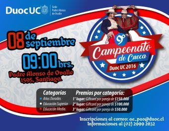 9° Campeonato de Cueca Duoc UC 2016.