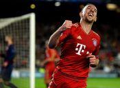 Ribery a la cancha: