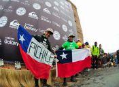 Dos chilenos conquistan el podio en Circuito Mundial de Olas Grandes