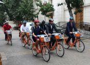 Municipio de Santiago inaugura sistema de bicicletas