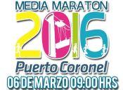 Corrida Media Maratón Puerto Coronel - 6 de marzo 2016