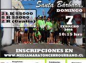 Media Maraton Cerro Urbano Santa Bárbara - 7 de febrero 2016