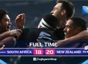 Mundial de Rugby 2015: Nueva Zelanda 20 - 18 Sudáfrica