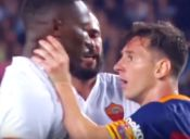[Video] Messi reacciona contra jugador de la Roma