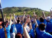 Trail running en Piedra Roja: Arriba quemando el sol