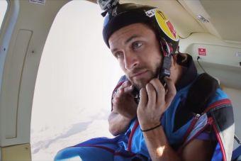 El salto del chileno que cruzó volando el cerro Manquehue