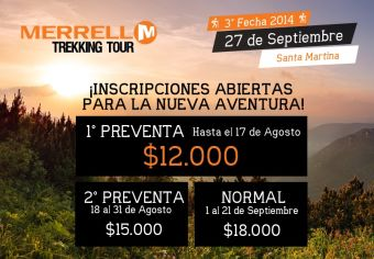 Merrell Trekking Tour - 3° Fecha: 27 de Septiembre 2014