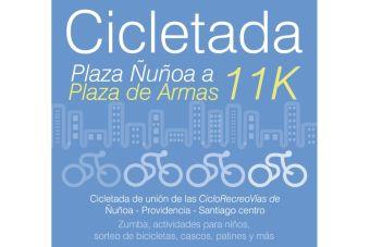 Cicletada Plaza Ñuñoa a Plaza de Armas - 30 de noviembre 2014