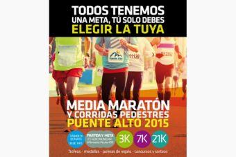 Medio Maratón y corridas pedestres Puente Alto - 09 de mayo 2015