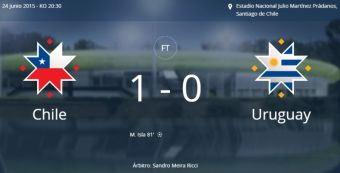 Chile a semifinales de la Copa América 2015