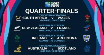 Sorteo Cuartos de Final Mundial de Rugby 2015