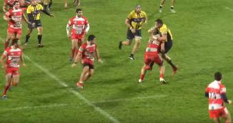 [Video] Brutal pelea en el rugby: Nevers vs Lombez-Samatan