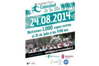 Corrida Consalud abre 1.000 cupos gratuitos