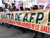 Masivas manifestaciones en contra de las AFP en varias ciudades del país