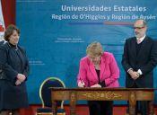 Presidenta Bachelet promulga ley que crea dos nuevas universidades estatales