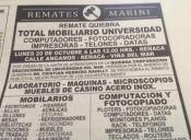 Hoy se remataron los artículos que quedaban de la sede Reñaca de la U. del Mar