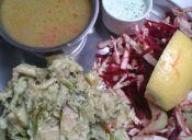 Picadas de comida Hare Krishna en el Barrio Univeristario