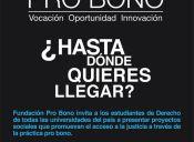 Fundación Pro bono desafía a estudiantes de derecho