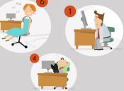 Las 10 formas de sentarse en una oficina y sus personalidades