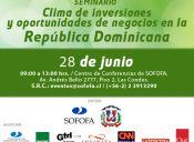 Seminario Clima de Inversiones y oportunidades de negocios en República Dominicana