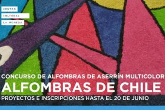 """¿Estudias arte, arquitectura o diseño? Ojo con el original concurso """"Alfombras de Chile"""""""
