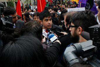 Estudiantes marcharon en contra de la Reforma Educacional del Gobierno