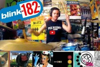 [VIDEO] Este batero se toca la discografía entera de Blink 182 en 5 minutos