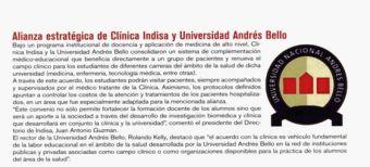 Alianza Estratégica de Clínica Indisa y U. Andrés Bello