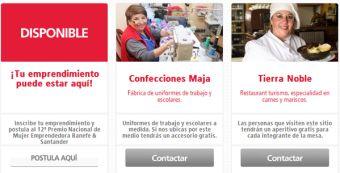 Sitio web: plataforma para mujeres emprendedoras