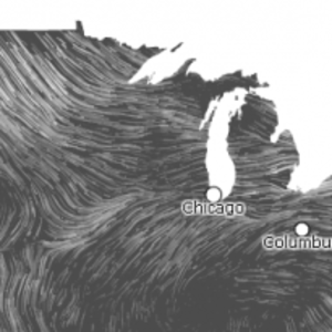 Real-time Wind Mapping map