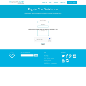 Switchmate Register