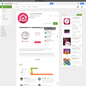 LG SmartThinQ Android App