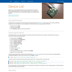 JanOS Device List