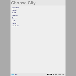 City Dashboard Choose City