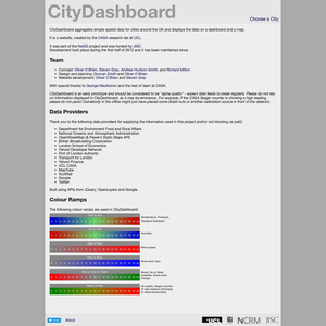 City Dashboard About