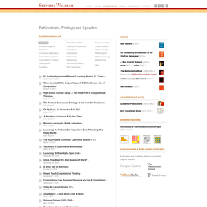 Wolfram and Thingful Publications
