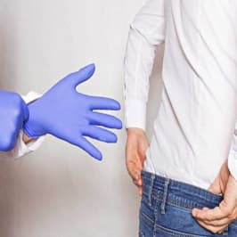 A man visits a doctor of urologist