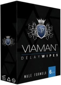 Viaman Ejaculation Control Delay Wipes