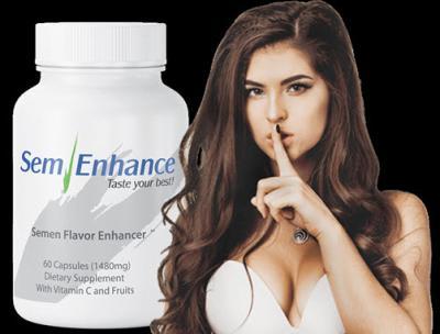 Girl with SemEnhance semen sweetener
