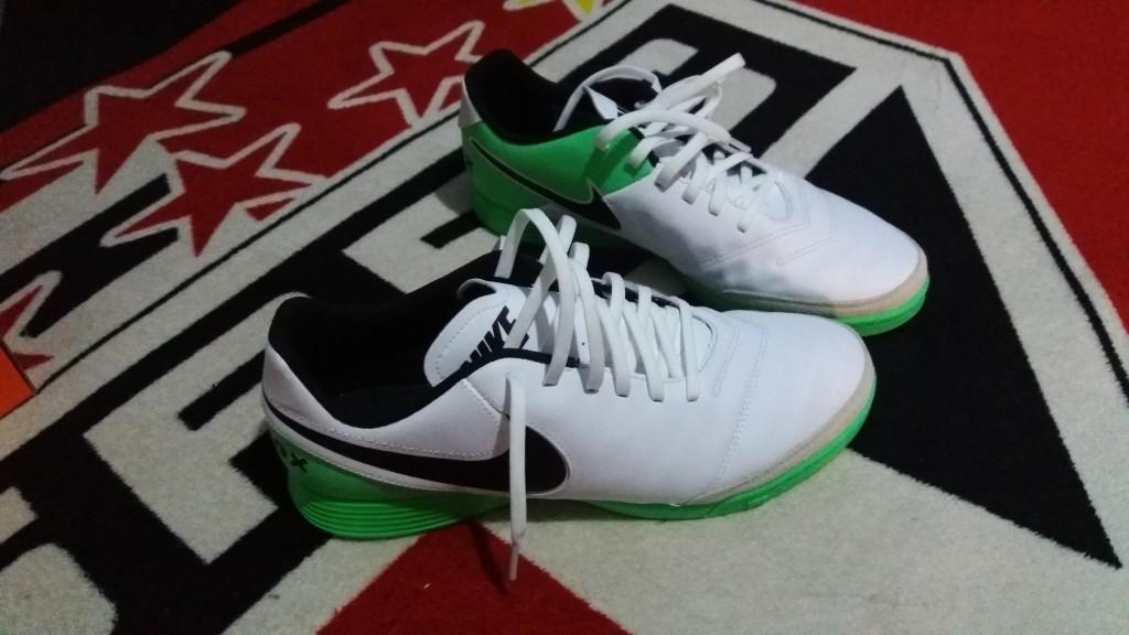 Chuteira Nike TiempoX Genio II Leather Futsal Quadra  be5a051eeecad