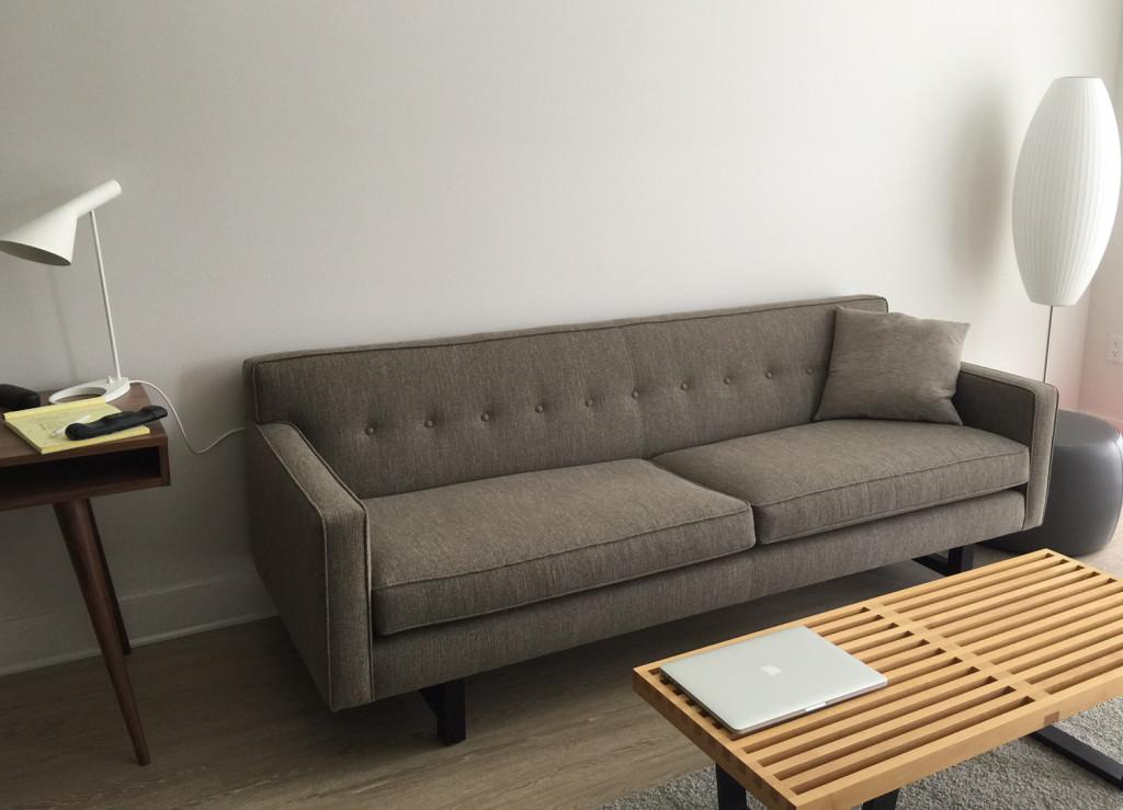 Wells Leather Sofa Modern Sofas Living Room Furniture