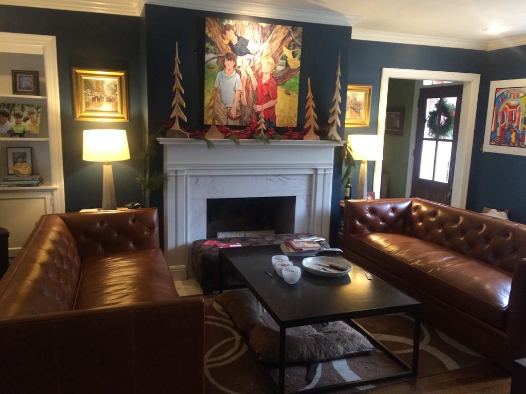 Macalester Leather Sofa - Modern Sofas - Modern Living Room ...