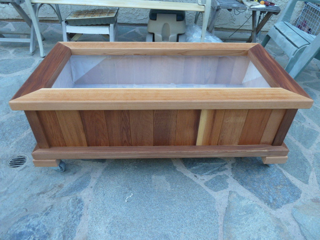 Good Wood Country Rectangle Cedar Wood Boise Patio Planter Box   Planters At  Hayneedle