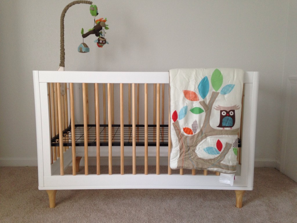 babyletto lolly in convertible crib white and natural  - babyletto lolly in convertible crib white and natural collection hayneedle