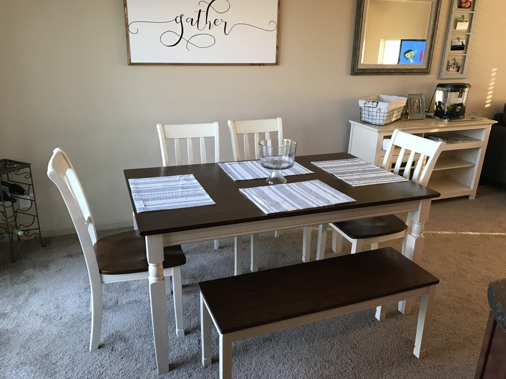 Mrs B Furniture Omaha Ne Whitesburg 6 Piece Dining Set In Brown And Cottage  White