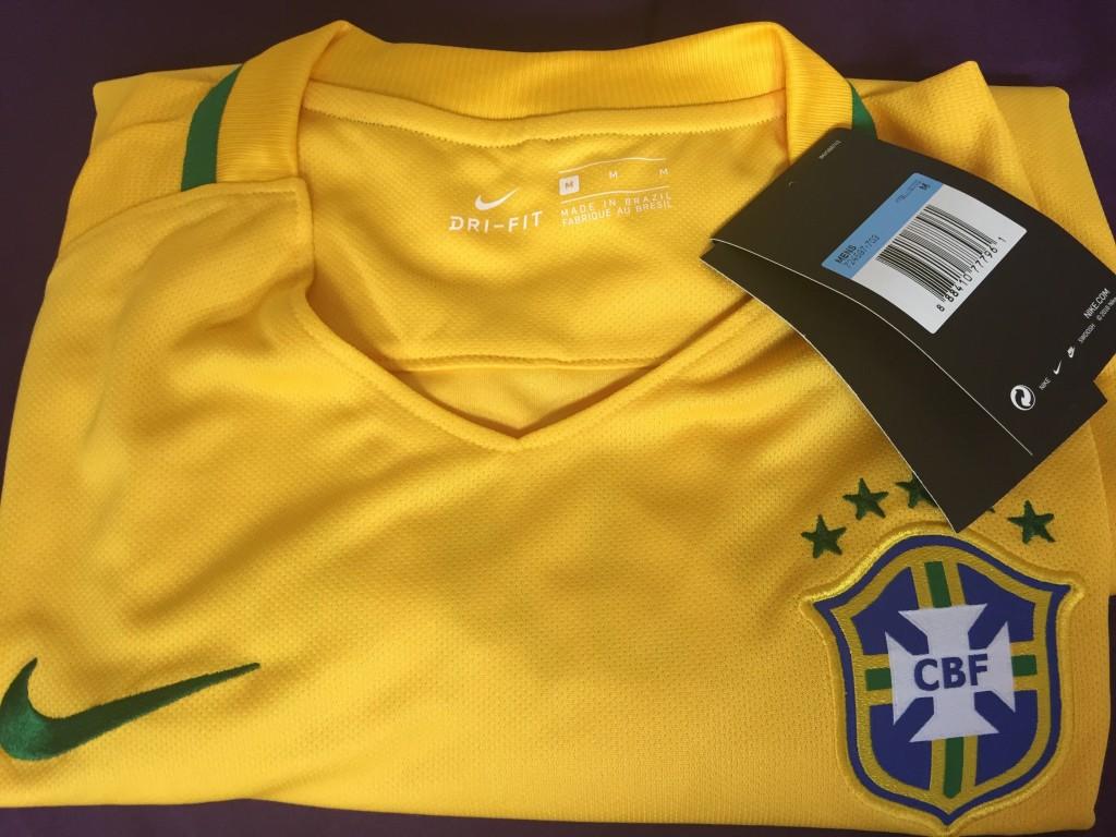 Camiseta Nike Brasil I Torcedor Masculina  f5fd14aa65cdb