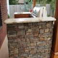 Rock veneer & granite counter top