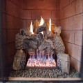 Gas logs in action.  Feel great!