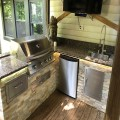 My Dream Kitchen Showing RCS Grill, Fridge, and components from BBQguys