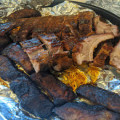 Smoked boness and bone in ribs